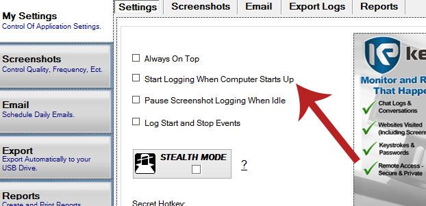 KeyProwler Best Keylogger Settings
